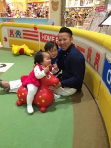 息子3歳、娘1歳と イオンモール祇園
